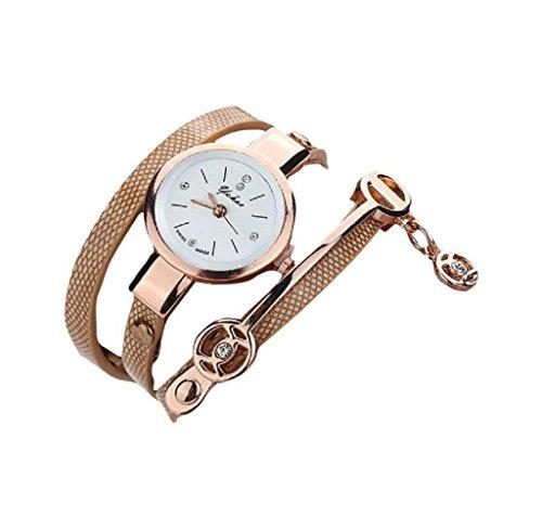 Covermason Damen Quarz Armbanduhr Uhr Metall Gurt Uhr Gold