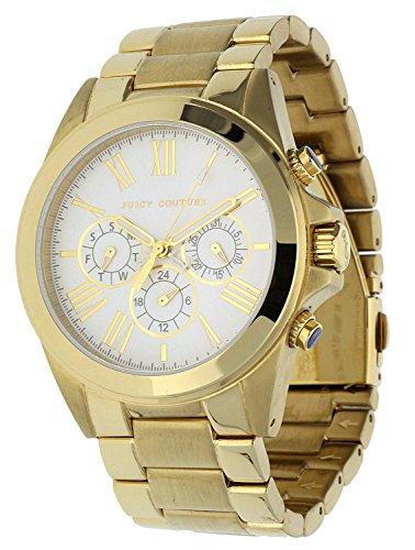Juicy Couture 1900901 Armbanduhr Analog mit Edelstahl Armband Gold