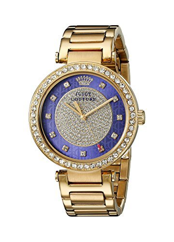 Juicy Couture Damen 1901267 Luxe Couture Analog Display Quarz Gold Armbanduhr von Juicy Couture