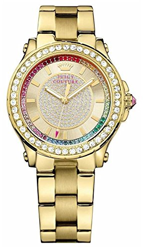 Juicy Couture Damen Armbanduhr Pedigree Analog Rosegold Gold 1901228