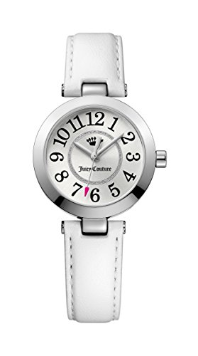 Juicy Couture Weiss Leder Messing Ionic Plating Stahl 1901461