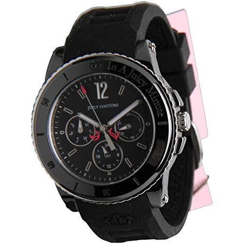 Juicy Couture ladies Pedigree Black Silicon Strap Watch 1900754