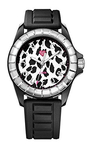 Juicy Couture womenJuicy Sport Quarz Uhr mit weissem Zifferblatt Analog Anzeige und 1901160 schwarz Kunststoffarmband