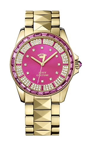 WomenJuicy Couture Damen Armbanduhr Stella Analog Quarz Gold 1901131 Armband Rotgold