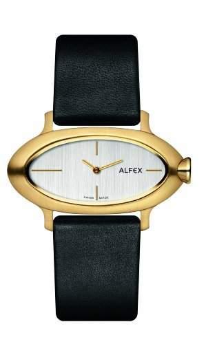 Alfex Damen-Armbanduhr Analog Leder Schwarz 5623_468
