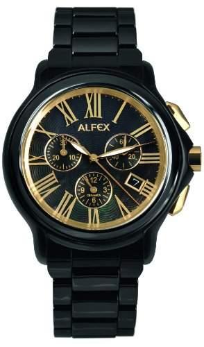 Alfex Herren-Armbanduhr Chronograph Quarz Edelstahl 5629_796