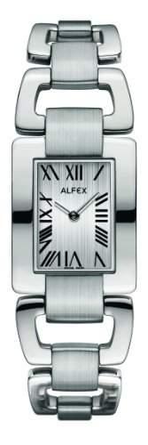 Alfex-5632_ 053Damen-Armbanduhr 045J699Analog grau-Armband Stahl Grau