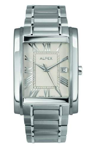 Alfex Herren-Armbanduhr Analog Quarz Edelstahl 5667_053