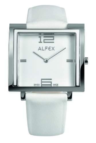 Alfex Damen-Armbanduhr Analog Leder Weiss 5699_851