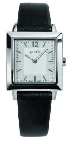 Alfex-5700_ 857Damen-Armbanduhr 045J699Analog beige-Armband Leder Schwarz