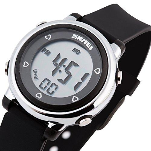 Besser Line Digital LCD Band mit stundensignal taeglicher Alarm Kalender und Funktionen schwarz