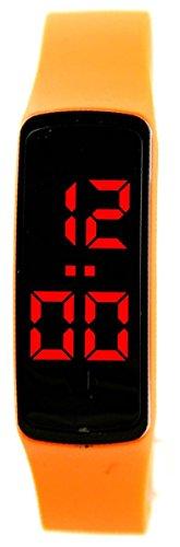 Futura Armbanduhr mit LED Silikon Orange 2446