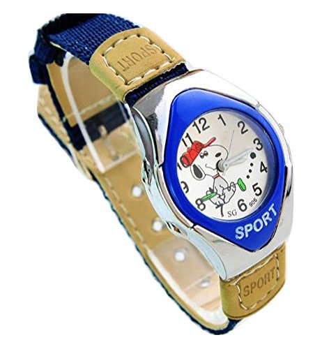 NEW Snoopy children kids cartoon Uhren Watches Textile Watch Band WP KTW169839L