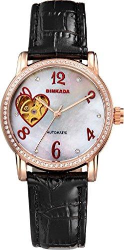 binkada Automatische Mechanische weisses Zifferblatt Damen Armbanduhr 7073 W02 2