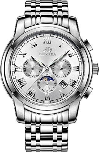 binkada Mode automatische mechanische weisses Zifferblatt Herren Armbanduhr 7062b01 1