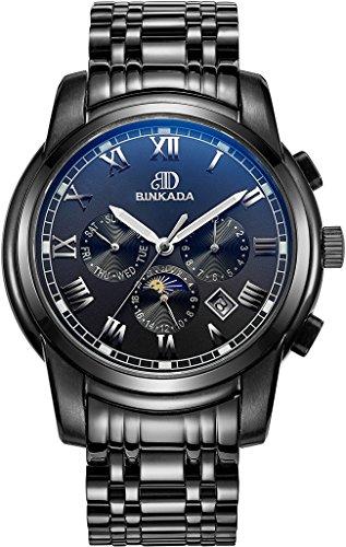 binkada Mode automatische mechanische schwarz Zifferblatt Herren Armbanduhr 7062b01 4