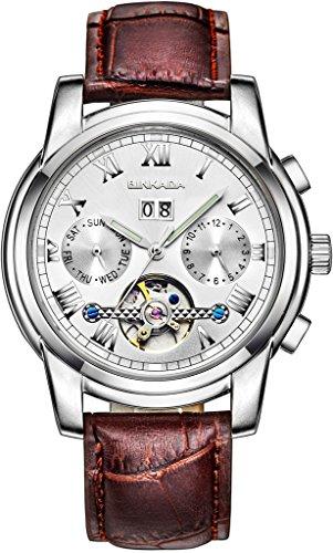 binkada Automatische Mechanische weisses Zifferblatt Herren Armbanduhr 7062l02 1