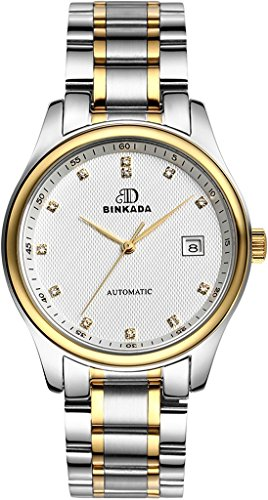 binkada Classic Automatischer Aufwicklung weiss Zifferblatt Herren Armbanduhr 7001 N01 3