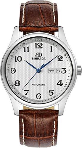 binkada Automatischer Aufwicklung weiss Zifferblatt Male Herren Armbanduhr 7001b02 1