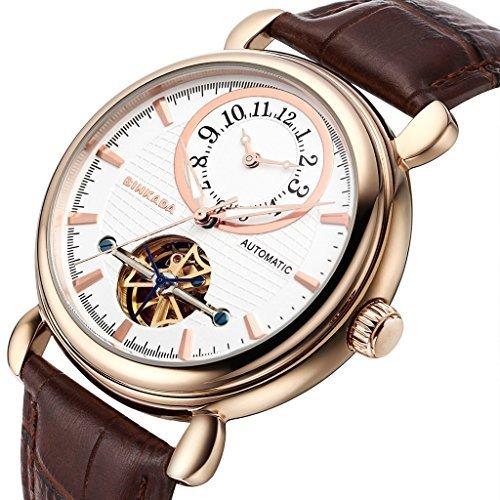 binkada beliebtes Automatische Mechanische weisses Zifferblatt Herren Armbanduhr 706402 3