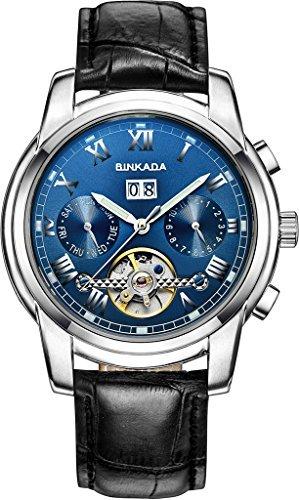 binkada Funky Auto Mechanischer Blue Dial Herren Armbanduhr 7062l02 3