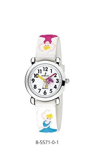 Uhr NOWLEY Kinder Maedchen Box Edelstahl Armband aus Kautschuk