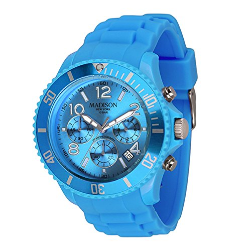 Madison Uhr Candy Chrono Farbe Neon Blue