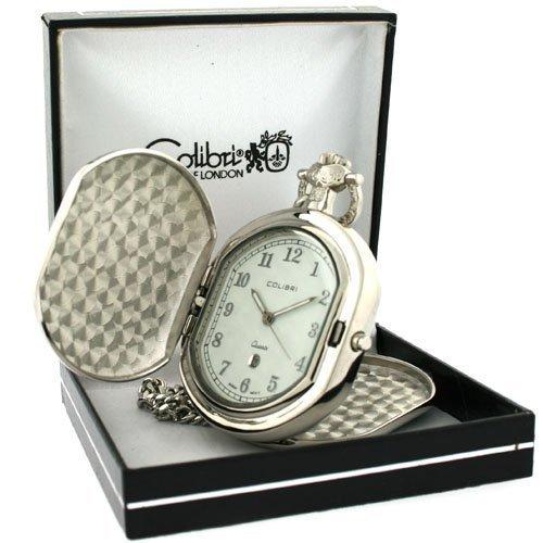 Colibri Pocket Watch Hunting Koffer mit Kette Model PWQ092008C