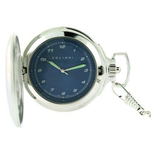 Colibri Taschenuhr mit Military Zeit Blue Dial PWQ096829J