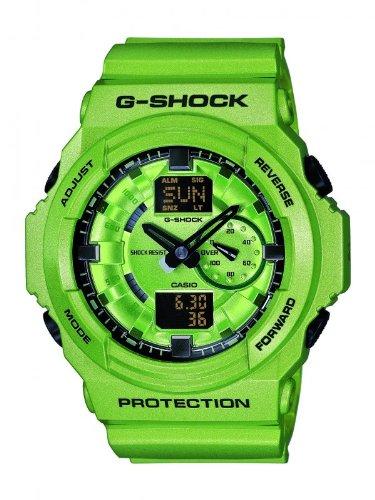 Casio ga 150 a 3aer Armbanduhr Armband aus Kunststoff Farbe gruen