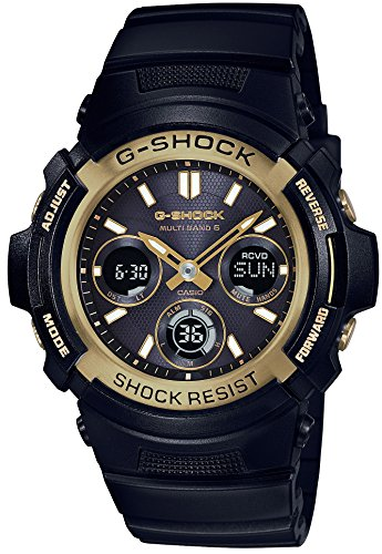 CASIO A wristwatch G SHOCK Black Gold Series Radio solar corresponding to 6 worlds AWG M100SBG 1AJF Mens