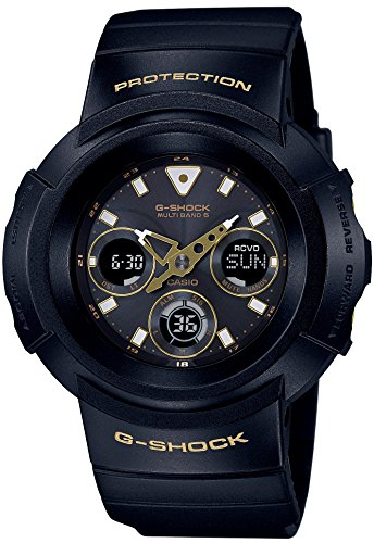 CASIO A wristwatch G SHOCK Black Gold Series Radio solar corresponding to 6 worlds AWG M510SBG 1AJF Mens