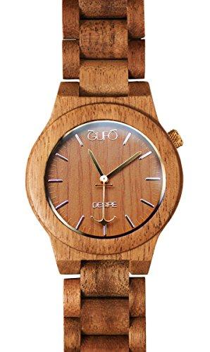 Uhr aus Holz Antimuecken Eule Italy