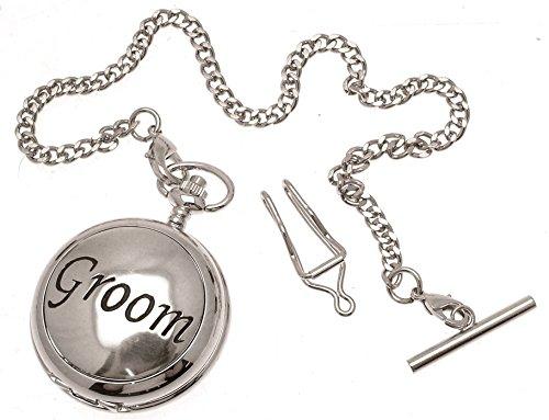 Gravur enthalten aus Zinn am Braeutigam Design 49 Perlmutt Quarz Taschenuhr