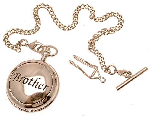 Gravur enthalten aus Zinn am Bruder Design 47 Perlmutt Quarz Taschenuhr
