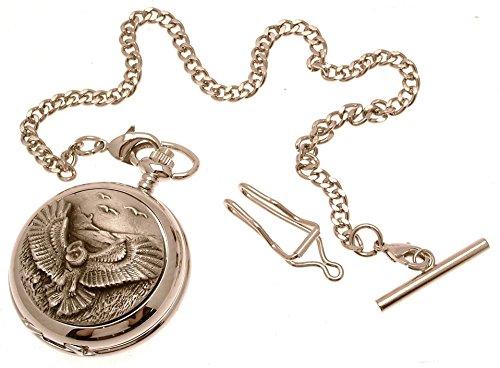 Gravur enthalten aus Zinn am Eule Design 42 perlmutt Quarz Taschenuhr