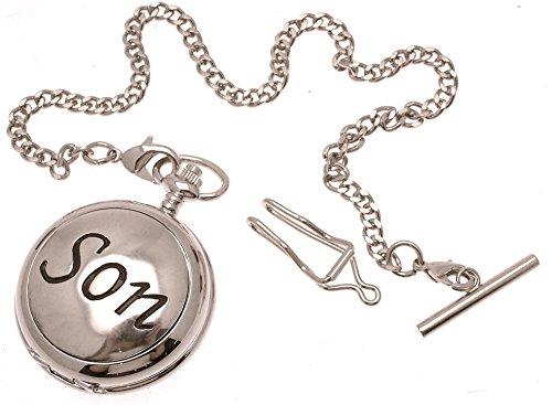 Gravur enthalten aus Zinn am Sohn Design 45 Perlmutt Quarz Taschenuhr