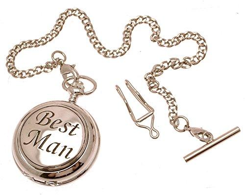 Gravur enthalten aus Zinn am Best Man Design 51 Perlmutt Quarz Taschenuhr