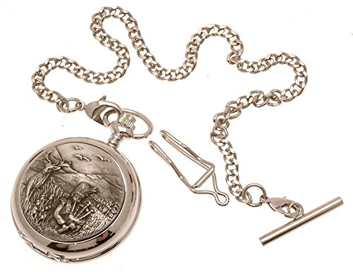 Gravur enthalten aus Zinn am Highland Piper Design 20 Perlmutt Quarz Taschenuhr