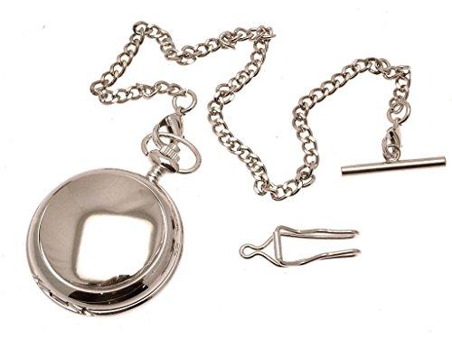 Gravur enthalten aus Zinn am Uni perlmutt Quarz Taschenuhr