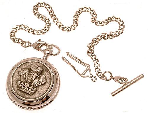 Gravur enthalten aus Zinn am Prince of Wales Feder Design 16 Perlmutt Quarz Taschenuhr