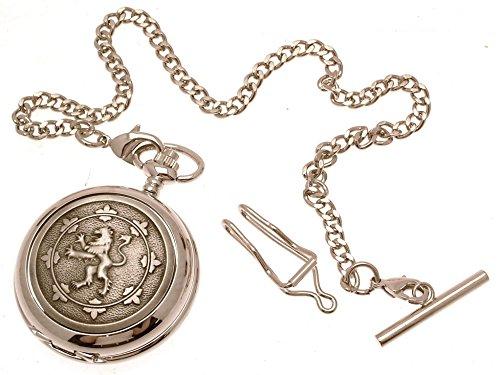Gravur enthalten aus Zinn am Rampant Loewe Design 18 Perlmutt Quarz Taschenuhr