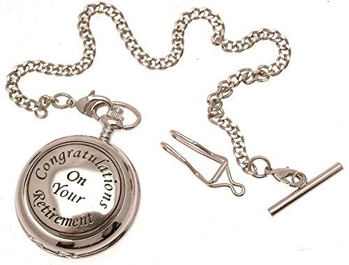 Gravur enthalten aus Zinn am Retirement Design 44 perlmutt Quarz Taschenuhr