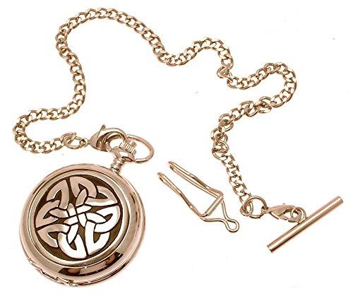 Gravur enthalten aus Zinn am 4 Triag Knoten kein Stein Design 4 Perlmutt Quarz Taschenuhr