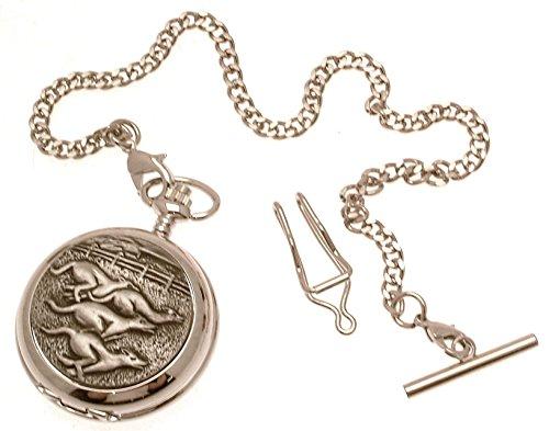 Gravur enthalten aus Zinn am Windhund Design 56 Perlmutt Quarz Taschenuhr