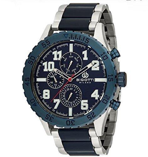 bigotti Milano bgt06250e Gents Edelstahl blau Multidial Datum Armbanduhr
