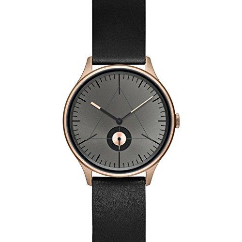 Cronometrics The Architect L10 Rosegold Edelstahl mit schwarzem Lederarmband