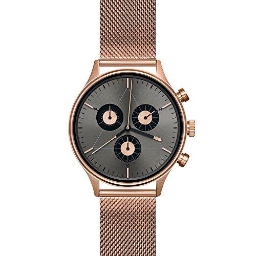 Cronometrics The Engineer S6 Edelstahl rosegold mit Edelstahl Milanese Armband