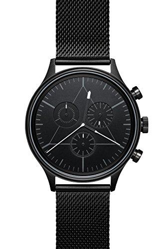 Cronometrics Uhr watch The Engineer S3 schwarzfarbend mit schwarzem Milanesearmband