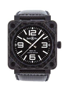 New Bell Ross Aviation Automatische Herren Armbanduhr BR 01 92 Carbon Faser